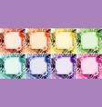 background design with flower frames vector image vector image