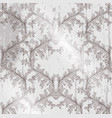 baroque pattern grunge background vintage vector image