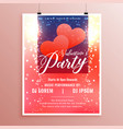 beautiful valentines day event flyer with light vector image vector image