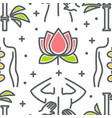 beauty and spa seamless pattern lotus flower and vector image vector image