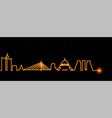 belgrade light streak skyline vector image vector image