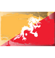 bhutan national flag vector image vector image