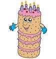big cartoon cake vector image vector image