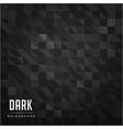 black mini triangle pattern dark background vector image