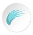 Blue birds wing icon flat style vector image vector image