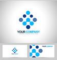 Blue dots Logo vector image vector image