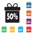 Box discounts gift box buyer vector image