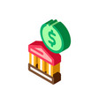 building coin isometric icon vector image vector image