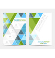 Business flyer template brochure or corporate vector image vector image