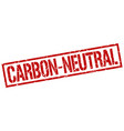 carbon-neutral stamp vector image vector image