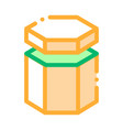 carton container in hexagon form packaging vector image