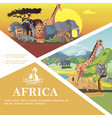 cartoon travel to africa colorful template vector image vector image