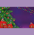 christmas background with gift boxes xmas holiday vector image vector image