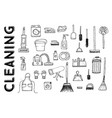 cleaning tools vector image vector image