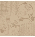 Coffee background with texture vector image vector image