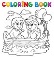 coloring book love theme image 1 vector image vector image