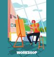 creative worker vector image