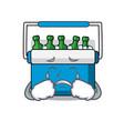 crying freezer bag mascot cartoon vector image vector image