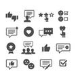 customer reviews icon set vector image vector image