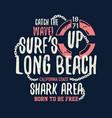 dangerous shark with typo vector image vector image