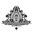 decorative tattoo ornament vector image vector image
