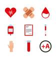 donate blood design vector image