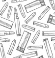 doodle bullets patterns seamless vector image vector image