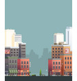 downtown isolated on background vector image vector image