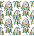 dreamcatcher sketch seamless pattern vector image