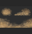dust clouds set vector image vector image