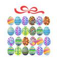 easter egg gift vector image