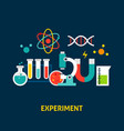 experiment science concept vector image