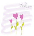 flowers herats vector image vector image