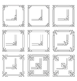 frames borders art deco style vector image