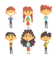 funny disciples of elementary school cute boys vector image vector image