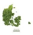 green leaf map denmark vector image vector image