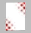 halftone dot pattern flyer template - brochure vector image vector image