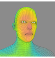 head person from a 3d grid human head wire vector image vector image