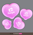 Heart pink with icons vector image vector image