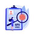 human papillomavirus hpv abstract concept vector image vector image