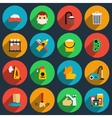 Hygiene and sanitation flat icons set vector image vector image