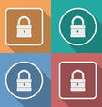 Icon of Padlock Modern trendy flat style vector image vector image