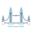 line art tower bridge england symbol of london vector image