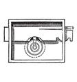 Lock vintage engraving vector image vector image