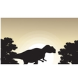 Mapusaurus beautiful landscape of silhouettes vector image vector image