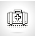 Medical case black line icon vector image vector image