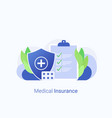 medical insurance and healthcare concept vector image vector image