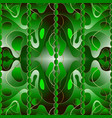 modern bright 3d green abstract seamless pattern vector image