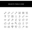 object tool line style icon set vector image vector image