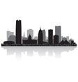 Oklahoma city USA skyline silhouette vector image vector image